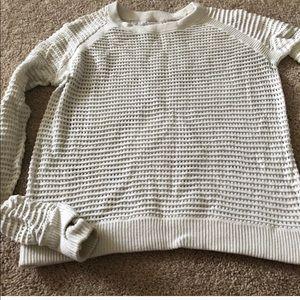 Open hole cream lulu sweater